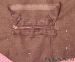 Прорезной карман с листочкой