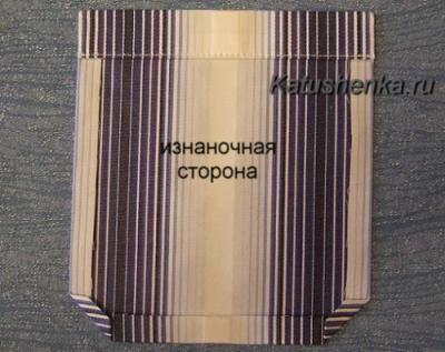 Обработка накладного кармана на мужской рубашке