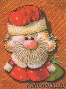 Дед Мороз из ткани (сувенир)