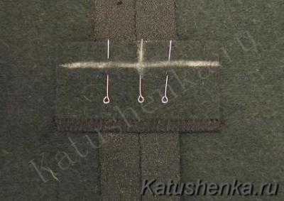 Обработка разреза на юбке