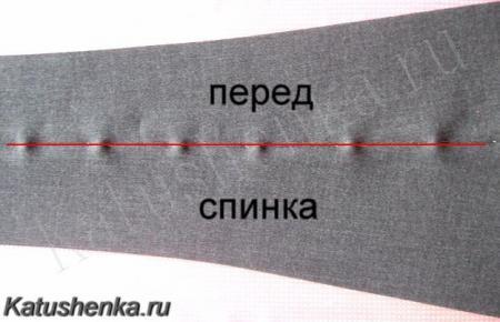 Как сделать стрелки на брюках