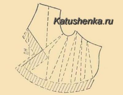 Перенос вытачки в драпировку