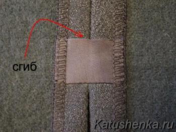 Обработка разреза в шве юбки