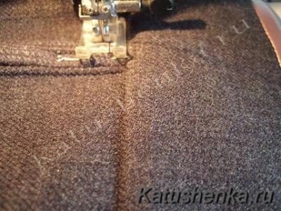 Пришивание шлевок