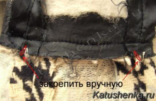 Обработка низа рукава в пальто