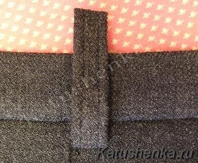 Пришивание шлевок к брюкам или юбке