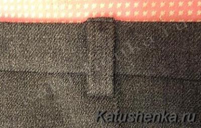 Вшивание шлевок