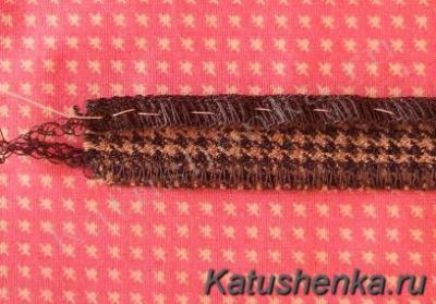 Изготовление шлевки из толстой ткани