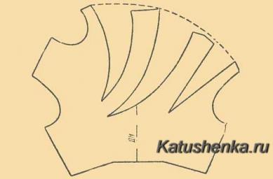 Перевод вытачек в драпировку на плече