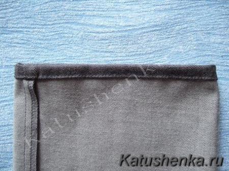 Обработка низа брюк