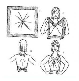 Способы завязывания платков