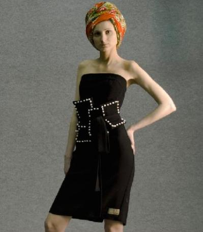Платье с поясом 2011