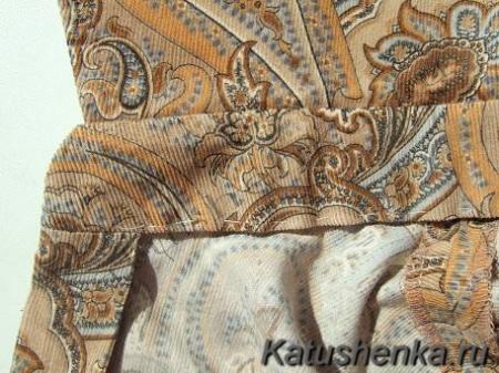Обработка воротников из толстой ткани