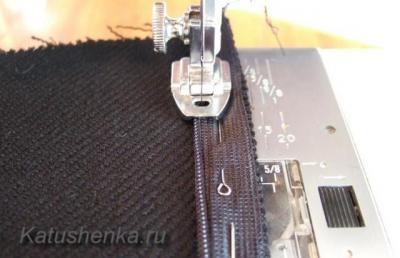 Лапка для вшивания потайной молнии