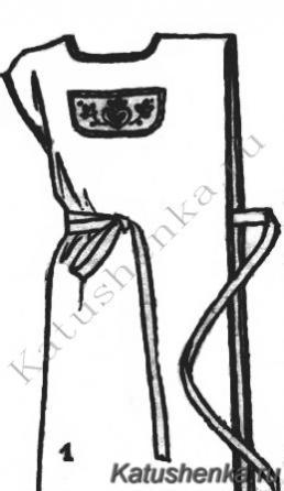 Выкройка женского передника для кухни