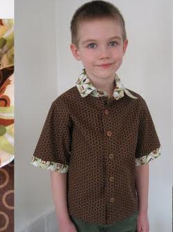Выкройка детской рубашки для мальчика