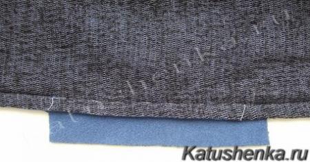 Обработка кармана в шве