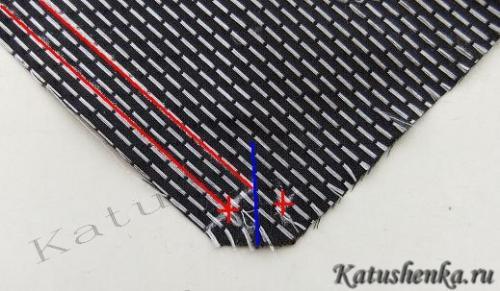 Выкройка мужского галстука