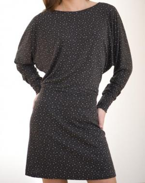 Платье с рукавом летучая мышь