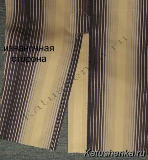 Обработка планками разреза на рукаве