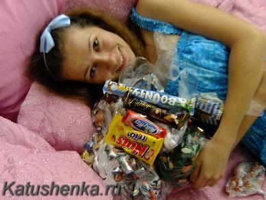 Ведро конфет