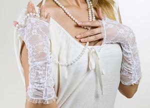 Свадебные кружевные митенки