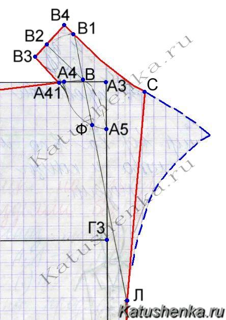 Выкройка большого воротника отложного фото 944