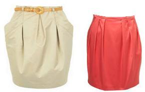 разные формы юбок