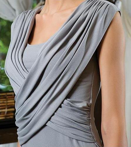 Модные Блузки Из Трикотажа С Узлами И Драпировкой Фото