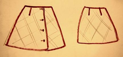 Как сшить самому юбку трапецией.