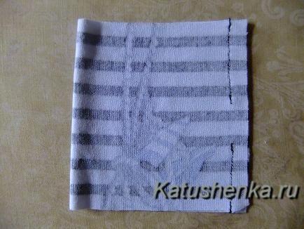 Как сделать бантик из ткани