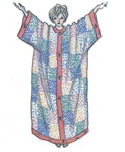Необычный женский домашний халат