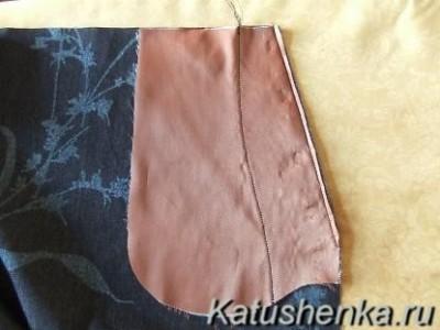 Как сшить боковой карман