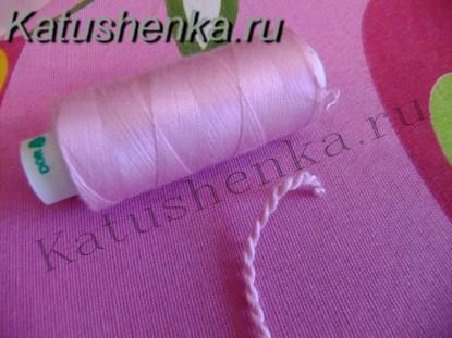 Как сделать из нитки петлю