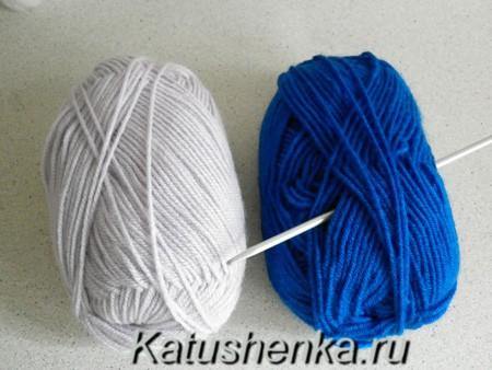 Пряжа и крючок для вязания