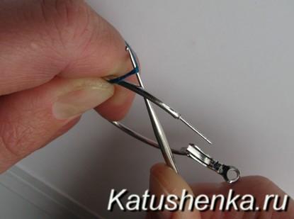 Вязаные серьги крючком
