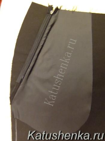 Обработка кармана брюк на молнии