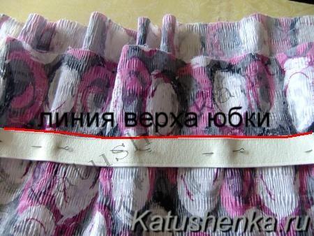Как сшить простую юбку на резинке