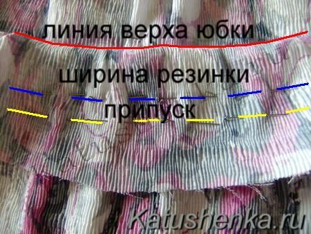 Как сшить юбку на резинке