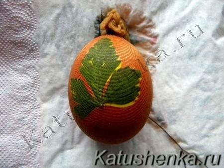 Оформление пасхальных яиц