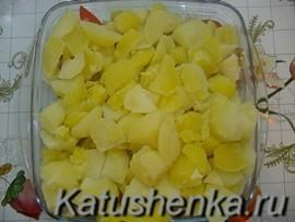 Отварная картошка ломтиками