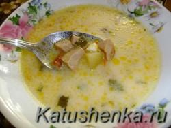 Суп из плавленого сырка рецепт
