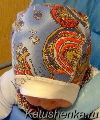 Как сшить трикотажную шапку шлем для ребенка