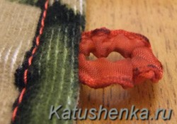 Как сделать навесную петлю для пуговицы