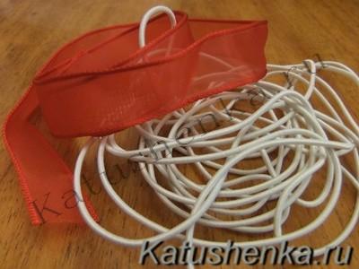 Шляпная резинка и капроновая лента